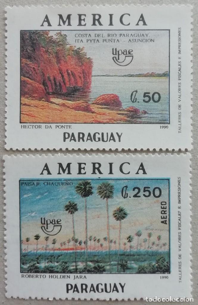 1990. PARAGUAY. TEMA AMÉRICA. RIBERAS DEL RÍO PARAGUAY, PAISAJE CHAQUEÑO. SERIE COMPLETA. NUEVO. (Sellos - Extranjero - América - Paraguay)