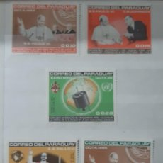 Sellos: PARAGUAY,1965,CAT.YT.818/822. Lote 285976603