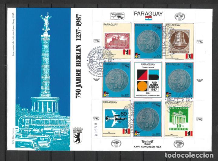 PARAGUAY 1987 SOBRE PRIMER DIA CONGRESO FISA - 197 (Sellos - Extranjero - América - Paraguay)