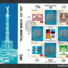 Sellos: PARAGUAY 1987 SOBRE PRIMER DIA CONGRESO FISA - 197. Lote 287112838
