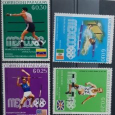 Sellos: PARAGUAY,1969,CAT.YT.1000/1005. Lote 289228003