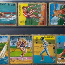 Sellos: PARAGUAY,1972,CAT.YT.1057/1063. Lote 289228438