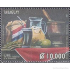 Sellos: ⚡ DISCOUNT PARAGUAY 2021 TERERE - UNESCO INTANGIBLE CULTURAL HERITAGE MNH - UNESCO, FOOD. Lote 297133578