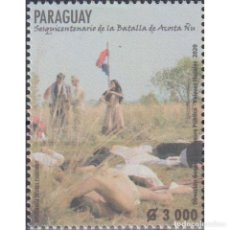 Sellos: ⚡ DISCOUNT PARAGUAY 2020 THE 150TH ANNIVERSARY OF THE BATTLE OF ACOSTA NU MNH - FLAGS, WARS. Lote 297144093