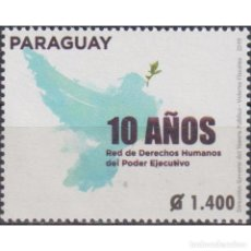 Sellos: ⚡ DISCOUNT PARAGUAY 2019 THE 10TH ANNIVERSARY OF THE HUMAN RIGHTS NETWORK OF THE EXECUTIVE BRA. Lote 297147668