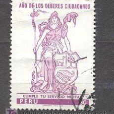Sellos: PERU, USADO. Lote 19937089