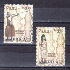 Sellos: PERU 1105/6 SIN CHARNELA, TEMA UPAEP, TRAJES TIPICOS . Lote 24602647
