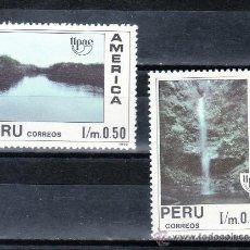 Sellos: PERU 958/9 SIN CHARNELA, TEMA UPAEP, MEDIO NATURAL QUE VIERON LOS DESCUBRIDORES,. Lote 43476858
