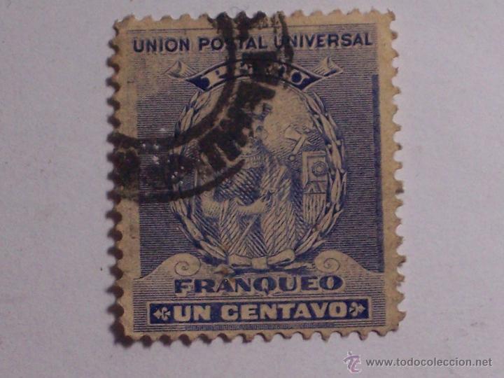 Sellos: 2 SELLOS UNION POSTAL UNIVERSAL (PERU) COLOR AZUL Y VERDE (FRANQUEO UN CENTAVO) - Foto 2 - 46611111