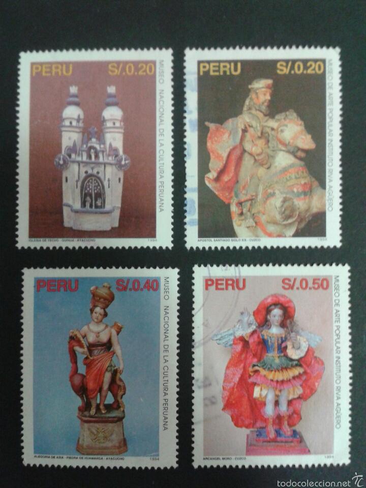 SELLOS DE PERÚ. YVERT 1059/62. SERIE COMPLETA USADA. ARTE PERUANO (Sellos - Extranjero - América - Perú)