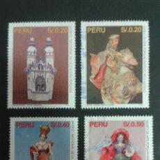 Sellos: SELLOS DE PERÚ. YVERT 1059/62. SERIE COMPLETA USADA. ARTE PERUANO. Lote 53093718