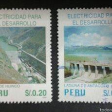 Sellos: SELLOS DE PERÚ. YVERT 1069/70. SERIE COMPLETA USADA.. Lote 54471237