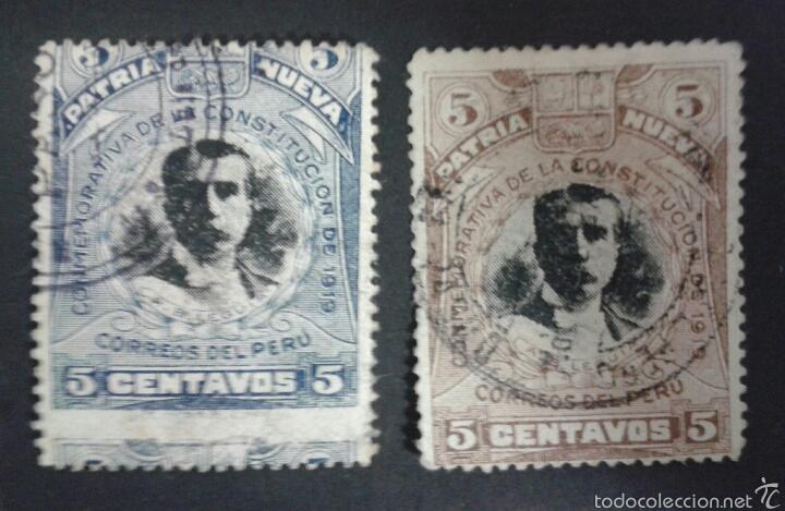 SELLOS DE PERÚ. YVERT 187/8. SERIE COMPLETA USADA. (Sellos - Extranjero - América - Perú)