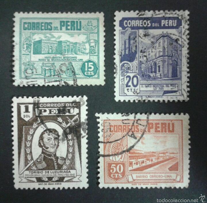 SELLOS DE PERÚ. YVERT 410/3. SERIE COMPLETA USADA. (Sellos - Extranjero - América - Perú)