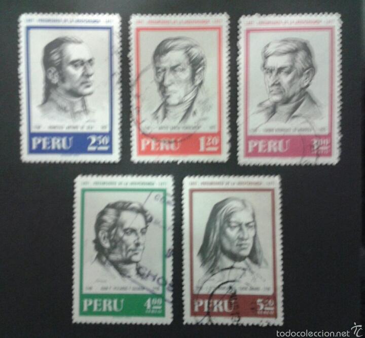 SELLOS DE PERÚ. YVERT 531/2 + A-388/90. SERIE COMPLETA USADA. (Sellos - Extranjero - América - Perú)