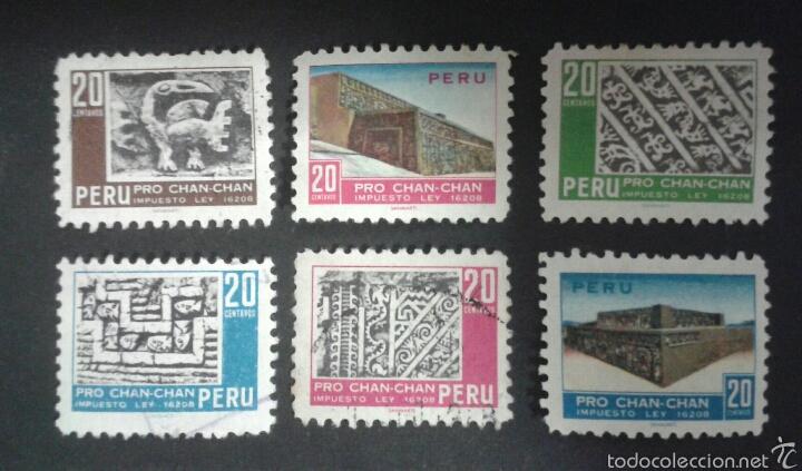 SELLOS DE PERÚ. YVERT 485/90. SERIE COMPLETA USADA. (Sellos - Extranjero - América - Perú)