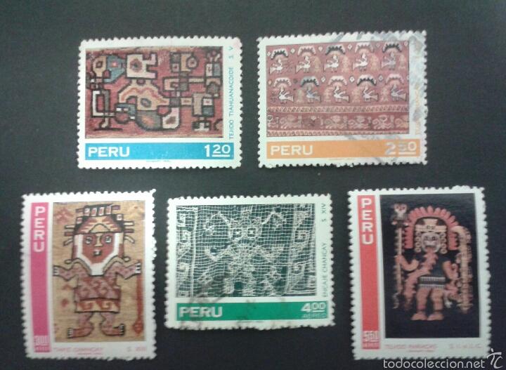 SELLOS DE PERÚ. YVERT 528/9 + A-285/7.. SERIE COMPLETA USADA. (Sellos - Extranjero - América - Perú)