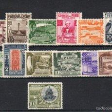 Sellos: PERU=YVERT Nº 49/61=CORREO AEREO=AÑO 1938=CATALOGO:200 EUROS=REF:1553. Lote 58130954