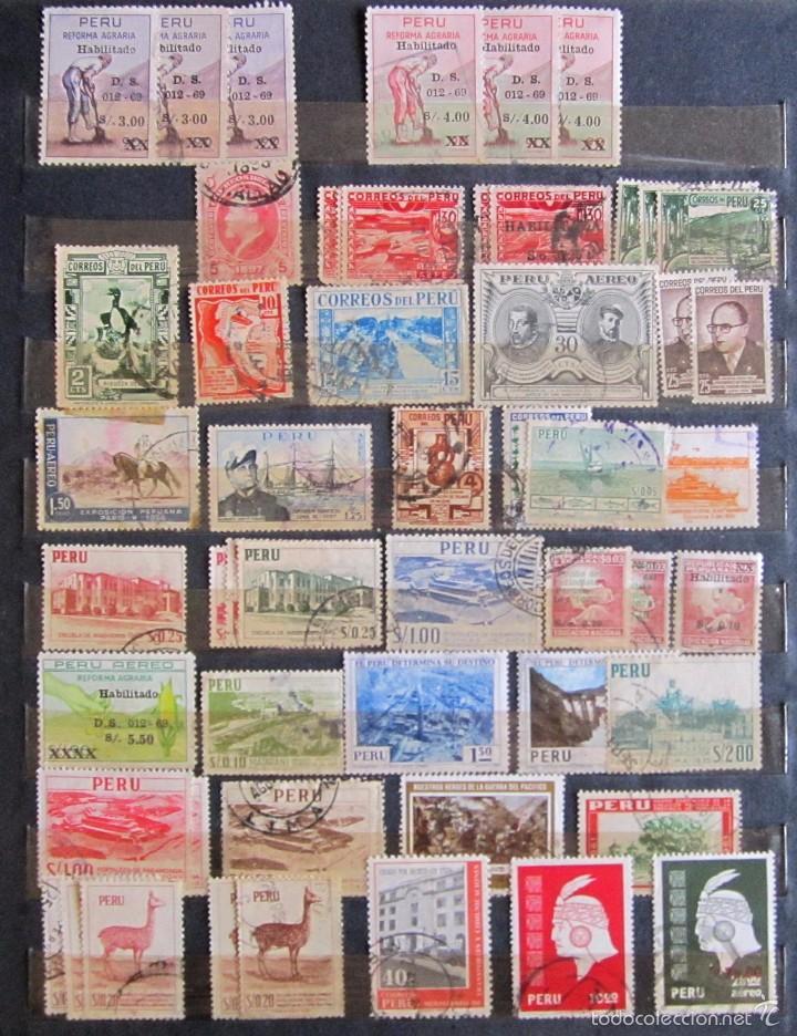Sellos: 330 sellos usados + 13 sellos nuevos PERÚ - Foto 2 - 59104980