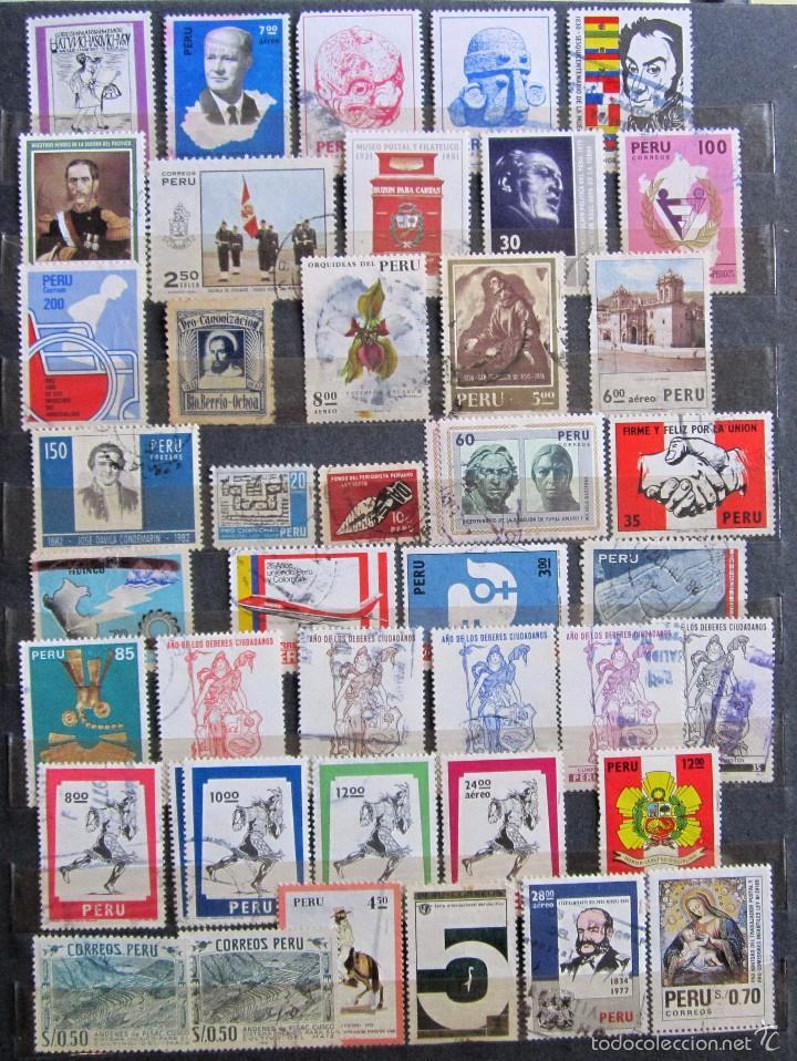 Sellos: 330 sellos usados + 13 sellos nuevos PERÚ - Foto 3 - 59104980