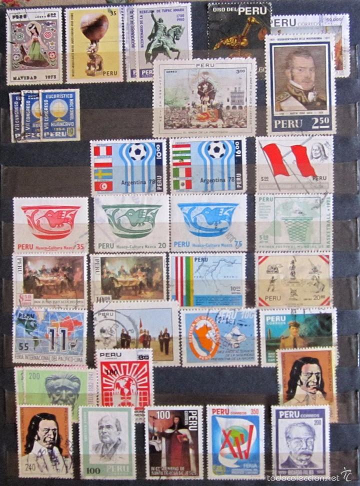 Sellos: 330 sellos usados + 13 sellos nuevos PERÚ - Foto 4 - 59104980