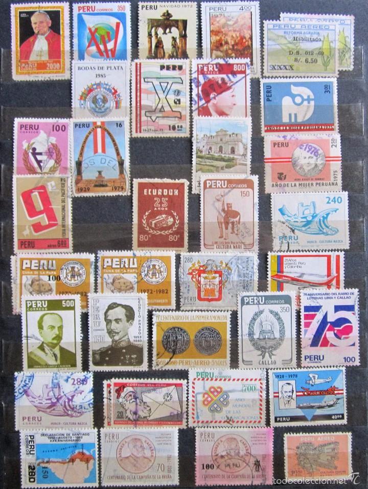 Sellos: 330 sellos usados + 13 sellos nuevos PERÚ - Foto 5 - 59104980