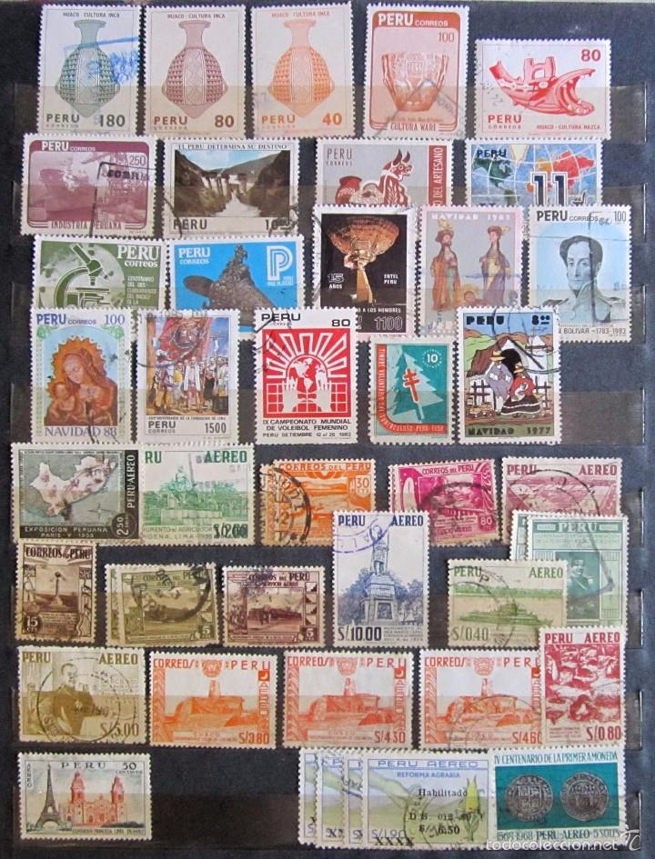 Sellos: 330 sellos usados + 13 sellos nuevos PERÚ - Foto 6 - 59104980