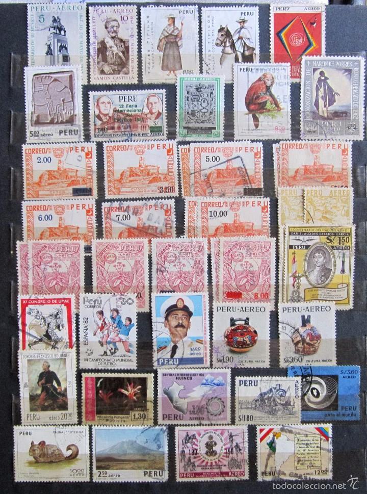 Sellos: 330 sellos usados + 13 sellos nuevos PERÚ - Foto 7 - 59104980