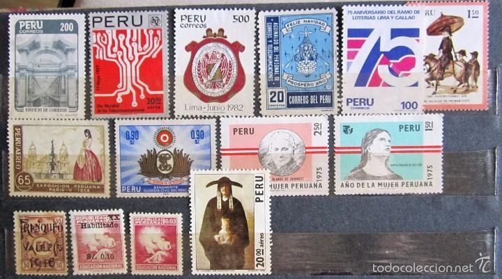 Sellos: 330 sellos usados + 13 sellos nuevos PERÚ - Foto 8 - 59104980
