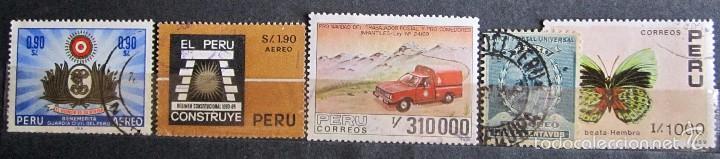 Sellos: 330 sellos usados + 13 sellos nuevos PERÚ - Foto 9 - 59104980