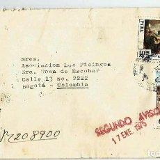 Sellos: PERU 1974 CARTA VOLADA DESDE PERU A COLOMBIA.. Lote 61572816