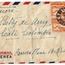 Sellos: PERÚ CORREO AEREO 1943 CARTA VOLADA DEL PERÚ A COLOMBIA. CANCELACION DE FECHA DE CALLAO . Lote 61572860