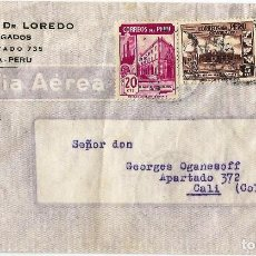 Sellos: PERU CORREO AEREO 1944 CARTA COMERCIAL VOLADA DEL PERU A COLOMBIA . Lote 61572904