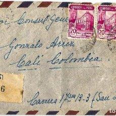 Sellos: PERU CORREO AEREO 1944 CARTA VOLADA DEL PERU A COLOMBIA.. Lote 61573028