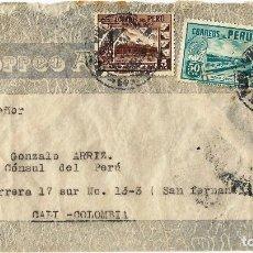 Sellos: PERU CORREO AEREO 1944 CARTA VOLADA DEL PERU A COLOMBIA.. Lote 61573080