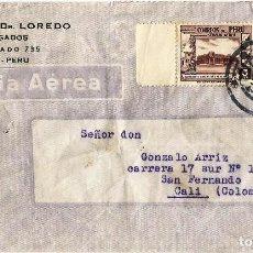 Sellos: PERU CORREO AEREO 1944 CARTA COMERCIAL VOLADA DEL PERU A COLOMBIA.. Lote 61573144