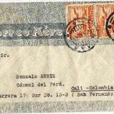 Sellos: PERU CORREO AEREO 1944 HISTORIA POSTAL CARTA DEL SERVICIO AEREO VOLADA DEL PERU A COLOMBIA. Lote 61573160