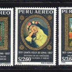 Sellos: PERU AEREO 214/16** - AÑO 1967 - 350º ANIVERSARIO DE LA MUERTE DE SANTA ROSA DE LIMA. Lote 64209355