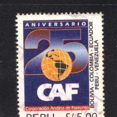 Sellos: PERU 1049 - AÑO 1995 - 25º ANIVERSARIO DE CAF - CORPORACION PARA EL DESARROLLO DE LOS ANDES. Lote 65029035