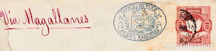 Sellos: HISTORIA POSTAL PERÚ-SOBRE ENTERO POSTAL AÑO 1886 ESCRITA POR CLORINDA MATTO --- VIA MAGALLANES - Foto 2 - 67276081