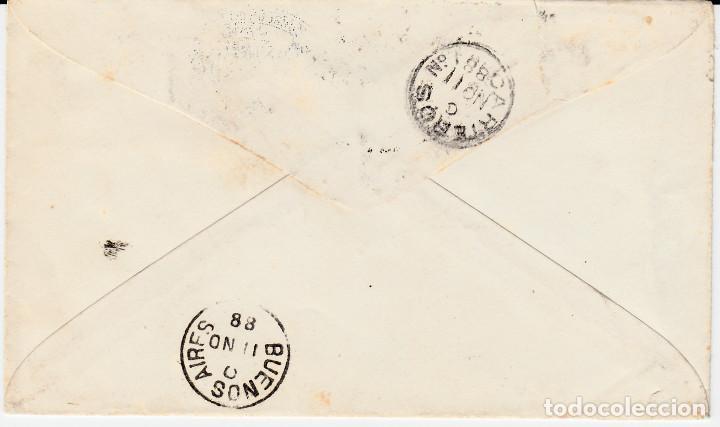 Sellos: HISTORIA POSTAL PERÚ-SOBRE ENTERO POSTAL AÑO 1886 ESCRITA POR CLORINDA MATTO --- VIA MAGALLANES - Foto 4 - 67276081