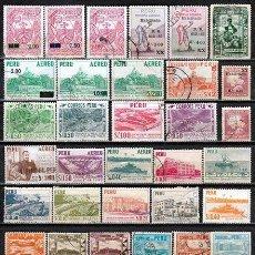 Sellos: PERU : LOTE 100 SELLOS DIFERENTES .- ( 3 FOTOS)*. MH (16-281). Lote 76650823