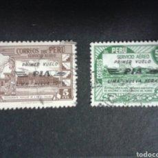 Selos: SELLOS DE PERÚ. YVERT A-69/70. SERIE COMPLETA USADA. SOBRECARGADO.. Lote 81149811