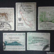 Timbres: SELLOS DE PERÚ. YVERT 399 A/E. SERIE COMPLETA USADA. CONGRESO DE TURISMO.. Lote 81786036