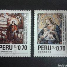 Sellos: SELLOS DE PERÚ. YVERT 956/7. SERIE COMPLETA USADA. NAVIDAD. Lote 93059338
