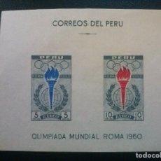 Sellos: PERÚ HOHIJA HB YVERT Nº 4 ** SIN CHARNELA , JUEGOS OLIMPICOS 1960 , DEPORTES. Lote 83265980