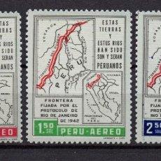 Sellos: PERU AEREO 169/71** - AÑO 1962 - 20º ANIVERSARIO DEL PROTOCOLO DE RIO DE JANEIRO. Lote 83455916