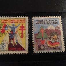 Sellos: PERU SET DE TIMBRES ANTITUBERCULOSOS 1959. Lote 120006196