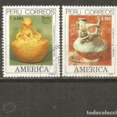Sellos: PERU YVERT NUM. 913/914 SERIE COMPLETA USADA UPAE. Lote 133563874