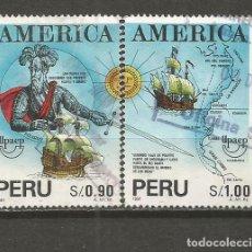 Sellos: PERU YVERT NUM. 991/992 SERIE COMPLETA USADA UPAEP -1SELLO CON DEFECTO PRECIO REBAJADO-. Lote 133564158